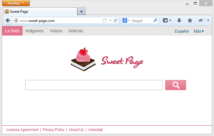 Eliminar Sweet Page