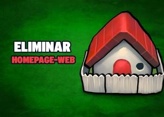 eliminar homepage-web