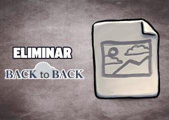 eliminar back to back