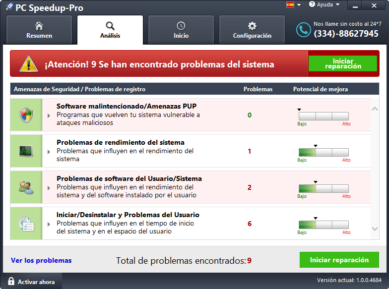 eliminar pc speedup pro
