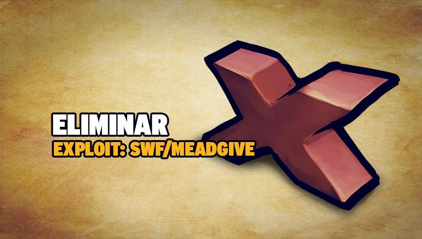 Eliminar Exploit: SWF/Meadgive
